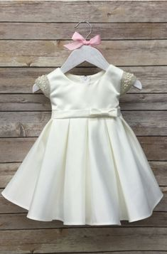 White Baby Dress Baptism Dress White christening by BabyGalore0