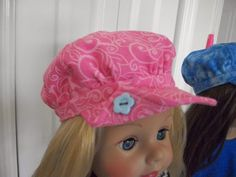 Helen Sews 4 Fun: Free Doll Hat Pattern and Dress/Top Pattern Sewing Doll Clothes, Girl Doll Clothes, Girl Dolls, Ag Dolls, Hat Patterns To Sew, Doll Sewing Patterns, Doll Clothes Patterns, American Girl Crafts, American Doll Clothes