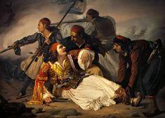 1821, la Grèce lutte, l'Europe exulte Laura Lee, Giclee Print, Death, Art Prints, Painting, Catalog, Europe, Posters, France