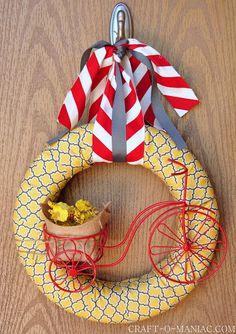DIY- Bicycle Summer Wreath #wreaths #DIY #DIYwreaths