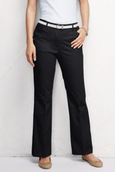 Curvy line for you! Women's Modern Curvy Boot Cut Pants from Lands' End