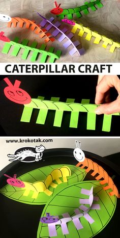Caterpillar (with paper plates) – Crafts Animal Crafts For Kids, Summer Crafts For Kids, Paper Crafts For Kids, Crafts For Kids To Make, Art For Kids, Spring Art Projects, Projects For Kids, Caterpillar Craft, Paper Plate Crafts