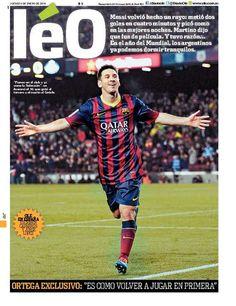 """Jornal """"Olé"""" muda de nome para homenagear Messi"""