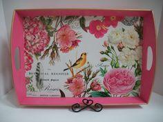 ACC003 Rose Garden Decoupage Tray