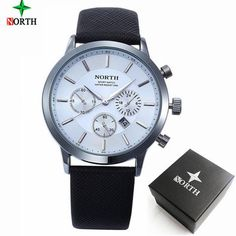 NORTH Brand Mens Watches - AuhaShop  Men's Watch Affordable Cheap Fashion Products Website White