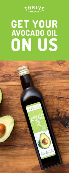Get the best 100% pure, all-natural avocado oil for FREE at Thrive Market! On a mission to make healthy living easy and affordable for everyone, Thrive Market offers premium, organic foods and healthy products up to 50% off every day with delivery right to your door. Get your FREE avocado oil today while supplies last, and start saving!