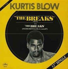 """Hip-hop heads, did you know that Kurtis Blow's 1980 hit, """"The Breaks,"""" was the first rap single to sell over copies? Hip Hop Songs, Rap Songs, Hip Hop Rap, Rap Music, Music Mix, Dance Music, Hip Hop Artists, Music Artists, Broken Song"""