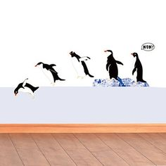 2N-WS Wall Decal -Penguins