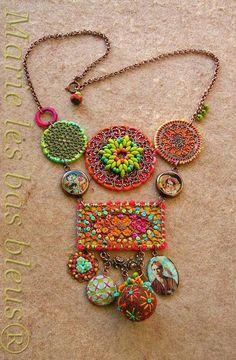 fibre jewelry - L'annexe de Marie