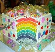 Awesome Rainbow Bubble cake
