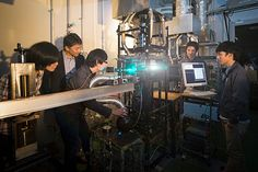 Students Experimenting with Lasers