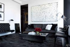 Idee per arredare il soggiorno in bianco e nero n.02