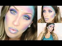 Mermaid Makeup Tutorial | Halloween - http://47beauty.com/mermaid-makeup-tutorial-halloween/