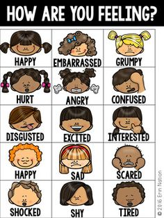 Use in a guidance and counseling setting or in the general classroom to assist early childhood students to express their emotions through images. Updated on 12/08/16 with writing prompts and new versions of the Feelings Charts! Looking for more Feelings resources?