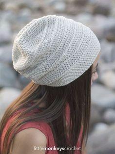 Shiplap Slouch Hat Crochet Pattern | Little Monkeys Crochet