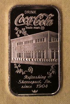 1979 Shreveport LA. Coca Cola Silver Bar .999 Fine Silver 75th Anniversary  Rare Coca Cola Santa, Coca Cola Ad, World Of Coca Cola, Coca Cola Bottles, Pepsi, Coke, Coca Cola Brands, Shreveport Louisiana, Silver Investing