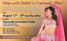 Shop with us at the Cincinnati Belly Dance Convention this Fri-Sun! Entrance for shopping is FREE!* We'll have Bra and Belt Sets, Dresses, Full Costumes, Veils, Scarves and Accessories available for you shopping pleasure. Visit our booth to shop or just say hello. We can't wait to see all of you this weekend! *info found on https://www.facebook.com/maali.shaker