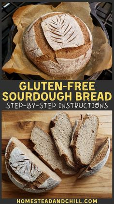 No gluten? No problem. Learn how to make wholesome gluten-free sourdough bread at home! The final loaf is airy, soft, slices easily, & toasts to perfection. Gluten Free Sourdough Bread, Gluten Free Pumpkin Bread, Sourdough Recipes, Gf Recipes, Dairy Free Recipes, Bread Recipes, Gluten Free Homemade Bread, Boule Bread Recipe, Gluten Free Buckwheat Bread