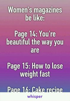 Hey girl stuff your face and read this magazine baby! Here's an exercise routine in case the cake makes you feel chunky ;)