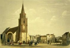 Carel Christiaan Anthony Last (1808-1876) De Oude Kerk van Scheveningen. Old Town, Notre Dame, Holland, Travel, Paintings, Building, The Hague, Old City, The Nederlands
