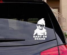 Baby on Board car window sticker funny decal bumper stickers * Visit the image link more details. Note:It is affiliate link to Amazon.