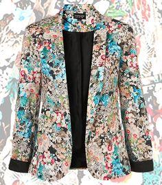 Co-Ord floral blazer, available at Topshop.