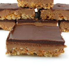Peanut butter chocolate rice krispy treats