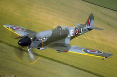 Modified: This image shows Mk XlV Spitfire MV268 with its wings clipped to help improve low level performance and roll rate