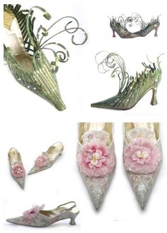 Basia Zarzycka Handmade Shoes - used to visit her all the time at Antiquarius on Kings Road in London! Fairy Shoes, Fairy Clothes, Fairy Dust, Shoe Art, Cool Costumes, Vintage Shoes, Wearable Art, Wedding Shoes, Designer Shoes