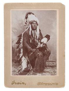 Edgar Keahbone (the son of Poor Buffalo, aka Lean Buffalo) - Kiowa - circa 1905