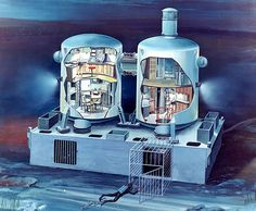 Drawing of Tektite an underwater lab located in the U. Jacques Cousteau, Scuba Diving Courses, Marine Conservation, Life Aquatic, Koh Tao, Open Water, Retro Futurism, Sci Fi Fantasy, Water Crafts
