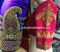 Embroidery Stitches, Hand Embroidery, Saree Tassels, Indian Lehenga, Work Blouse, Woman Clothing, Embroidered Blouse, Peacocks, Blouse Designs
