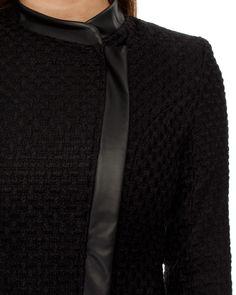 Zipper hemming slim woolen outerwear
