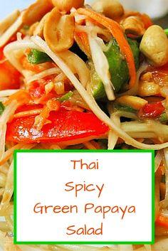 Easy Vegan Recipe: Thai Spicy Green Papaya Salad Recipe!