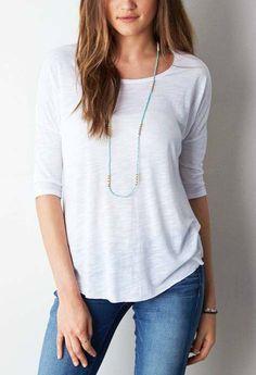 White  AEO Soft & Sexy Jegging T-Shirt