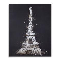 "Bassett Mirror Canvas Art Eiffel Tower 40"" x 50"" - 7300-311EC"