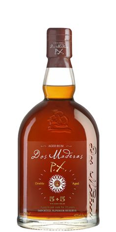 """Dos Maderas PX 5YO + 5YO Rum. A very unique process for Rum production brings it a new taste profile, a  """"Sherried Rum.  Gold Award at the RumXP competition. GBP 29.99   - See more at: http://flaviar.com/product/dos-maderas-px-5yo-5yo-rum#sthash.EoseiS5V.dpuf-"""