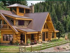 Plan de maison Wonderful Concepts to create your dream log cabin home in the woods or next to a cree How To Build A Log Cabin, Small Log Cabin, Log Cabin Homes, Prefab Log Cabins, Cabins In The Woods, House In The Woods, Wooden Lodges, Lodge Decor, Logs