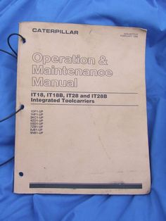 Caterpillar operations manual download file pdf caterpillar vintage caterpillar operation maintenance manual 1988 great price it18 it18b vintagecaterpillar this manual is fandeluxe Gallery
