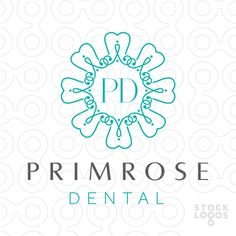 Logo Sold: Modern, elegant and beautiful design of a looping connecting pattern with reporting stylized tooth designs that interconnect together to form the impression of a flower