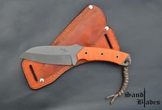 Tactical N690 - 5mm Acid washed finish Hollow grind Full tang Orange G10 scales Stainless steel hardware  OAL 232mm Blade 117mm  For inquiries sandtcustomblades@gmail.com  Follow us on Facebook  @SandtCustomBlades
