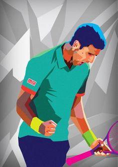 Illustration for the annual Mubadala World Tennis Chamionship in Abu Dhabi | Novak Djokovic