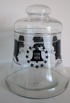https://www.etsy.com/listing/386719062/vintage-cookie-jar-liberty-bell-1976?ref=shop_home_active_2 Vintage Cookie Jar Liberty Bell 1976 Container Patriotic Glass. Silhouettes of James Madison, Thomas Jefferson, John Adams, George Washin...