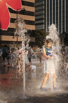 Cooling off in the fountain. by Tom Hanslien the fountains at Gwanghwamun Plaza in Seoul, Korea. Hannah New, New Earth, Seoul Korea, Boys Playing, Bobs, Trip Planning, Wander, Fountain, Places To Go