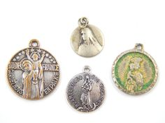 Vintage Catholic Medal Lot Virgin Mary, Saint Amelberga, Dutch Our Lady - Religious Charms by LuxMeaChristus
