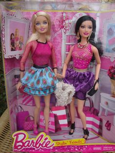 """Barbie 2-Pack """"Stylin Friends"""" Barbie & Raquelle  New in Box Ages 3+ #DollswithClothingAccessories"""