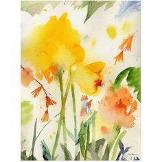 Trademark Art Garden Yellows by Sheila Golden, Size: 24 x 32, Multicolor