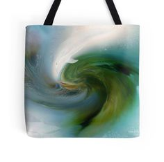Spirit Of The White Dolphin wearable art tote bag by Carol Cavalaris.