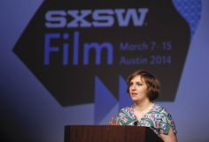 Lena Dunham delivers a keynote during the SXSW Film Festival at Austin Convention Center in Austin, Texas, on March 10, 2014