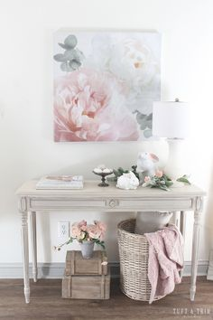 Modern decoration: 60 ideas of diverse environments with modern style - Home Fashion Trend Floral Room, Pastel Decor, Modern Style Homes, Shabby Chic Interiors, Spring Home Decor, Pink Room, Dream Decor, Chicano, Entryway Decor